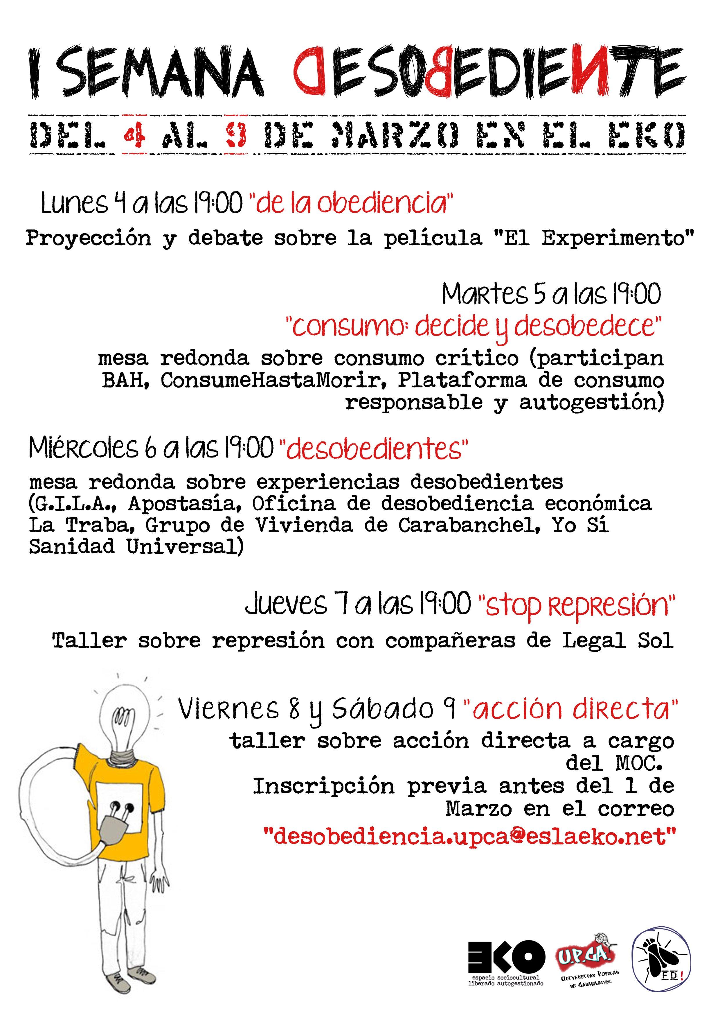 I semana desobediente universidad popular de carabanchel for Oficina de empleo carabanchel