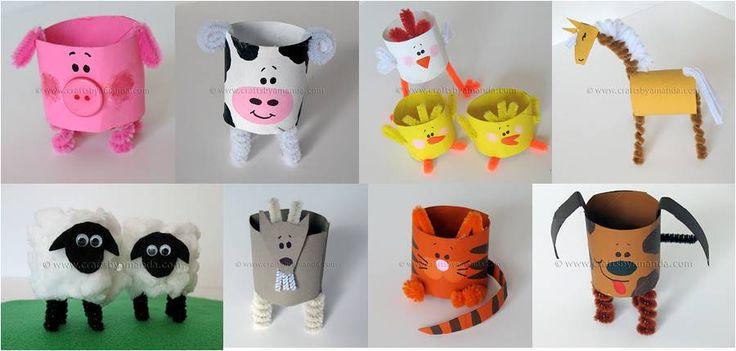 Rollos de papel toilet paper roll diy for kids - Manualidades con rollos de papel ...