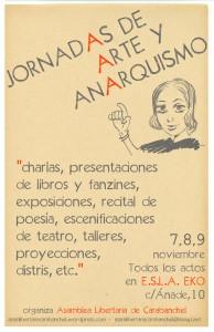 cartel jornadas libertarias arte creatividad carabanchel