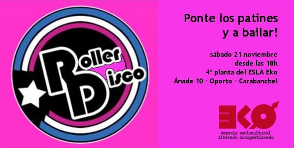 Cartel Roller Disco - 21 noviembre