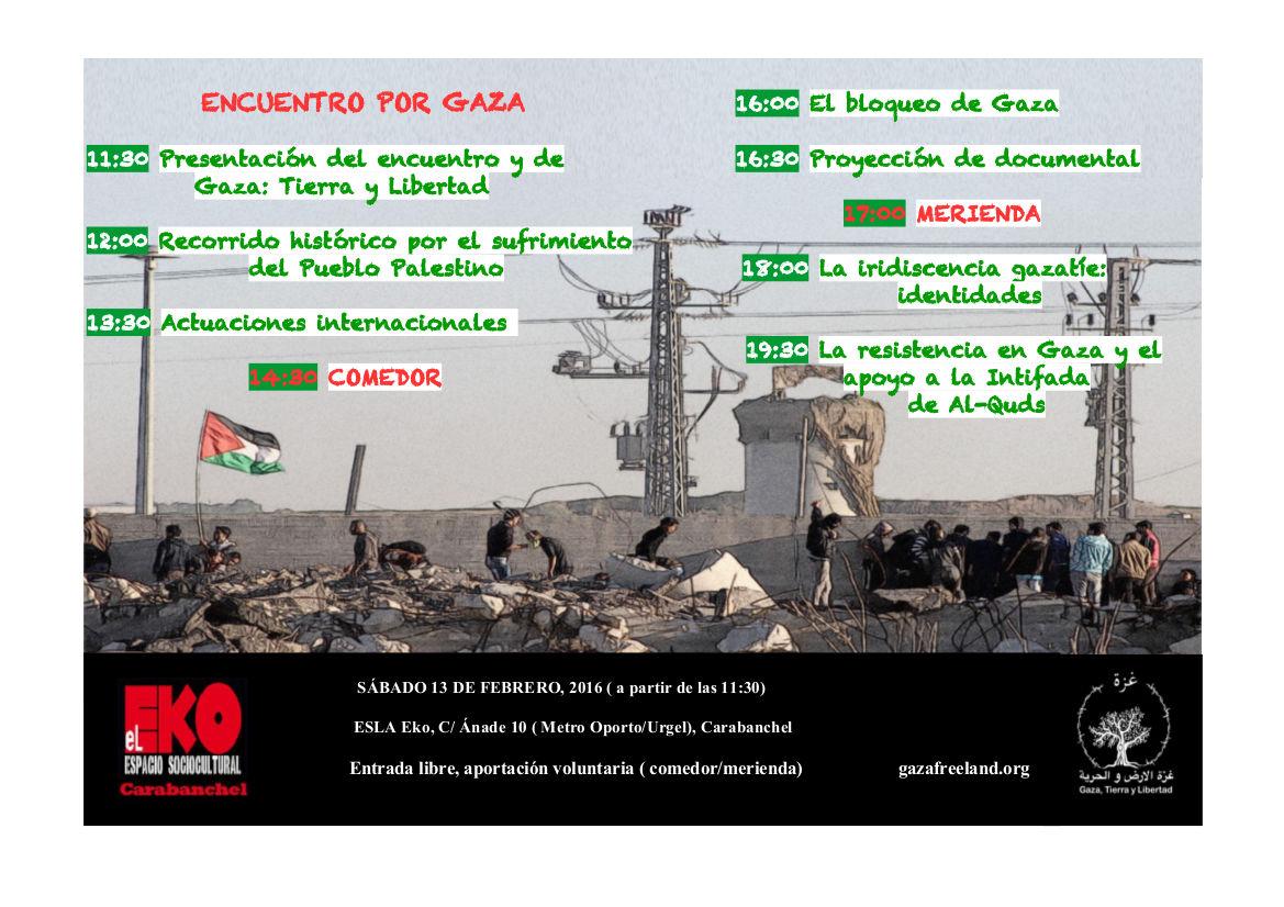 Cartel Encuentro por Gaza_Eko