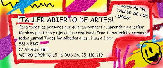 """Taller de Artes Plásticas """"El taller de los locos"""""""
