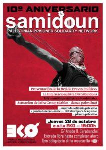 Samidoun. Red de Solidaridad con lxs prisionerxs palestinas